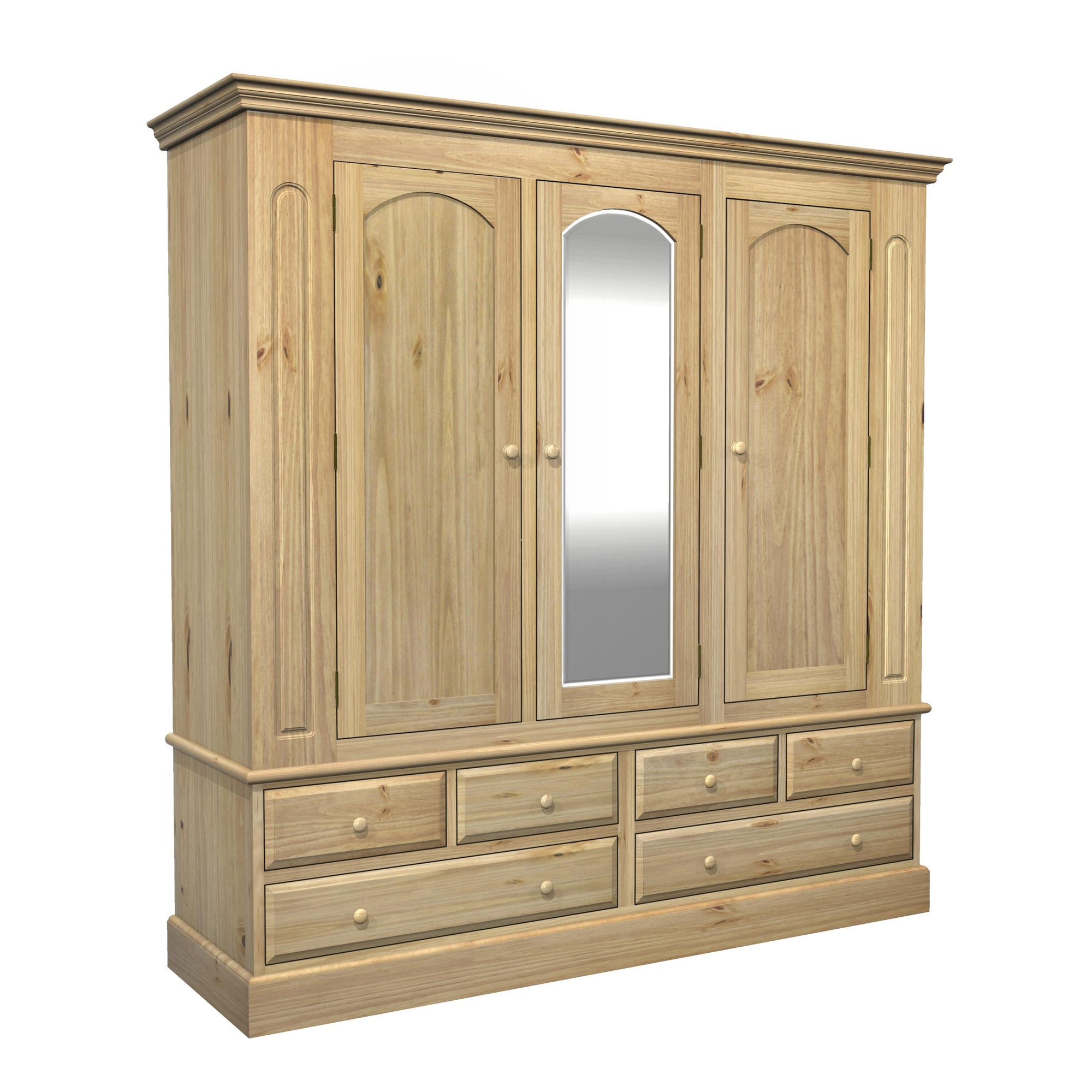 Kelburn Furniture Woodland Pine Triple Wardrobe