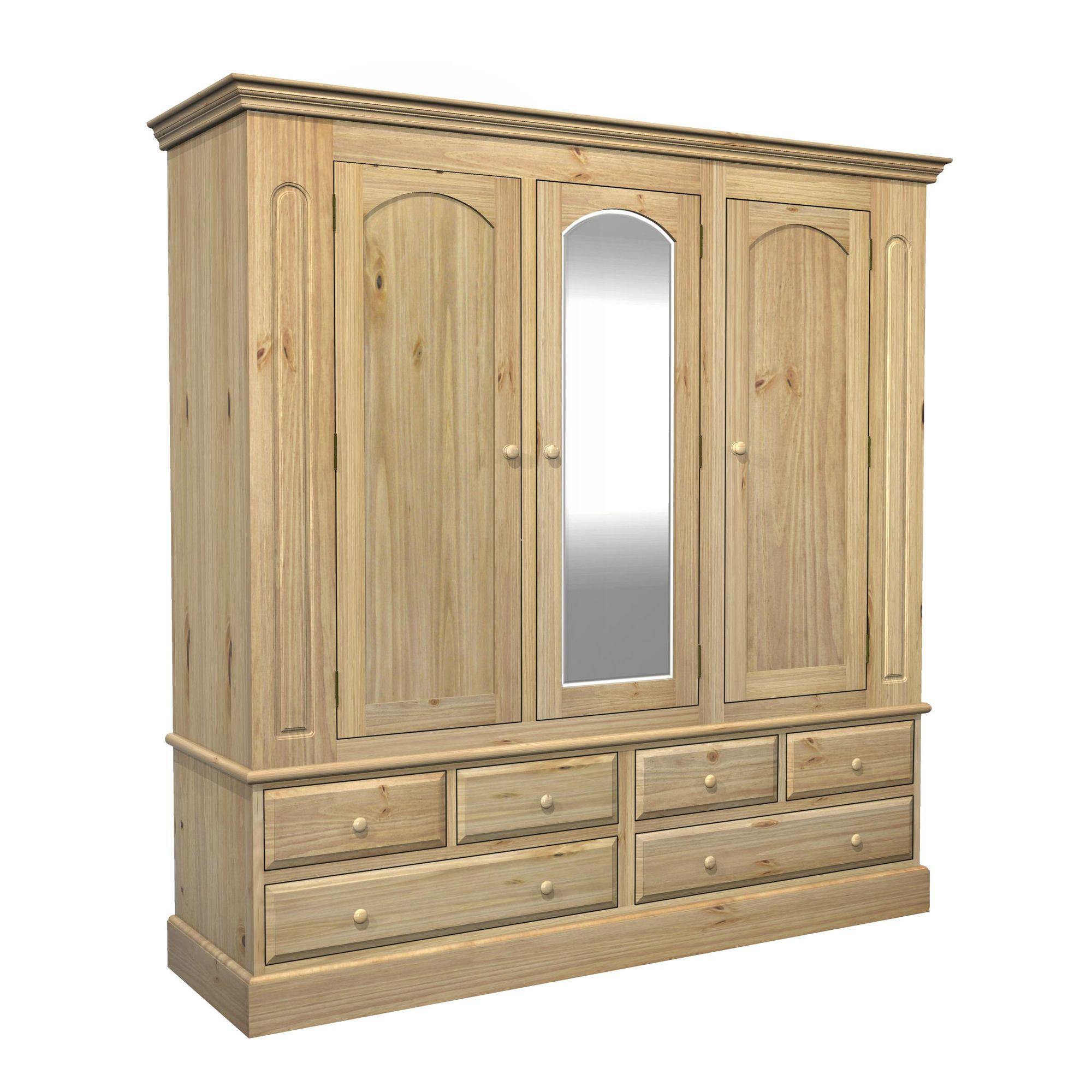 Kelburn Furniture Woodland Pine Triple Wardrobe at Tesco Direct