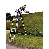 Henchman Aluminium Major Hi-Steps Garden Ladder