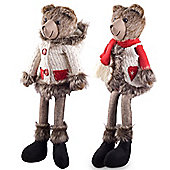 Balthasar & Belle the 48cm Large Shelf Edge Sitting Plush Bear Christmas Ornaments