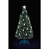 4ft Warm White Candle Fibre Optic Tree