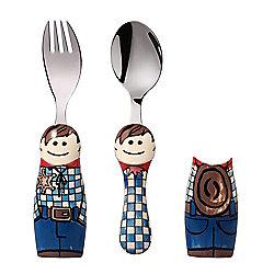 Eat4Fun Duos Cowboy Children's Cutlery Set