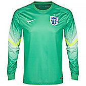 2014-15 England Away World Cup Goalkeeper Shirt (Green) - Kids - Green