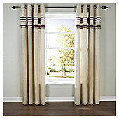 "Linen Lined Eyelet Curtains W112xL137cm (44x54"") - - Plum"