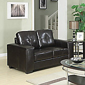 Sofa Source Rose Bonded Leather 2 Seater Sofa - Black