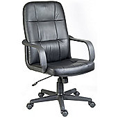 Modal Lincoln Leather Faced Executive Chair