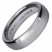 Wilis Judd New Mens 6mm Tungsten Band Ring Engraved Forever Together