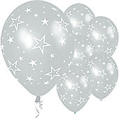 11' Stars All Over Silver (25pk)