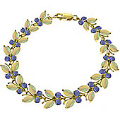 QP Jewellers 5in Tanzanite & Opal Butterfly Bracelet in 14K Gold