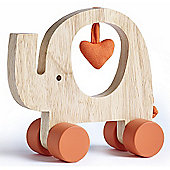 Natures Purest My First Friend - Wooden Elephant Push Along Toy