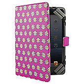"Tesco Universal Tablet Case 7 to 8""(for Hudl, Kindle Fire/HD, iPad Mini, Samsung Tab) - Pink Daisy"