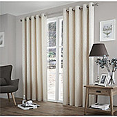 Curtina Harlow Cream Thermal Backed Curtains -90x90 Inches