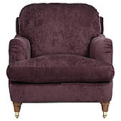 Florence Armchair Velvet Plum