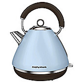 Morphy Richards Accents Pyramid Kettle, 1.5 L - Azure