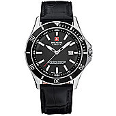 Swiss Military Hanowa Flagship Mens Leather Date Watch 6-4161.7.04.007