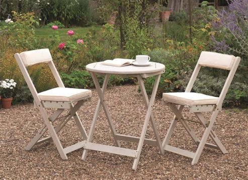 Buy Raffles Bistro Set From Our Wooden Garden Furniture Range Tesco