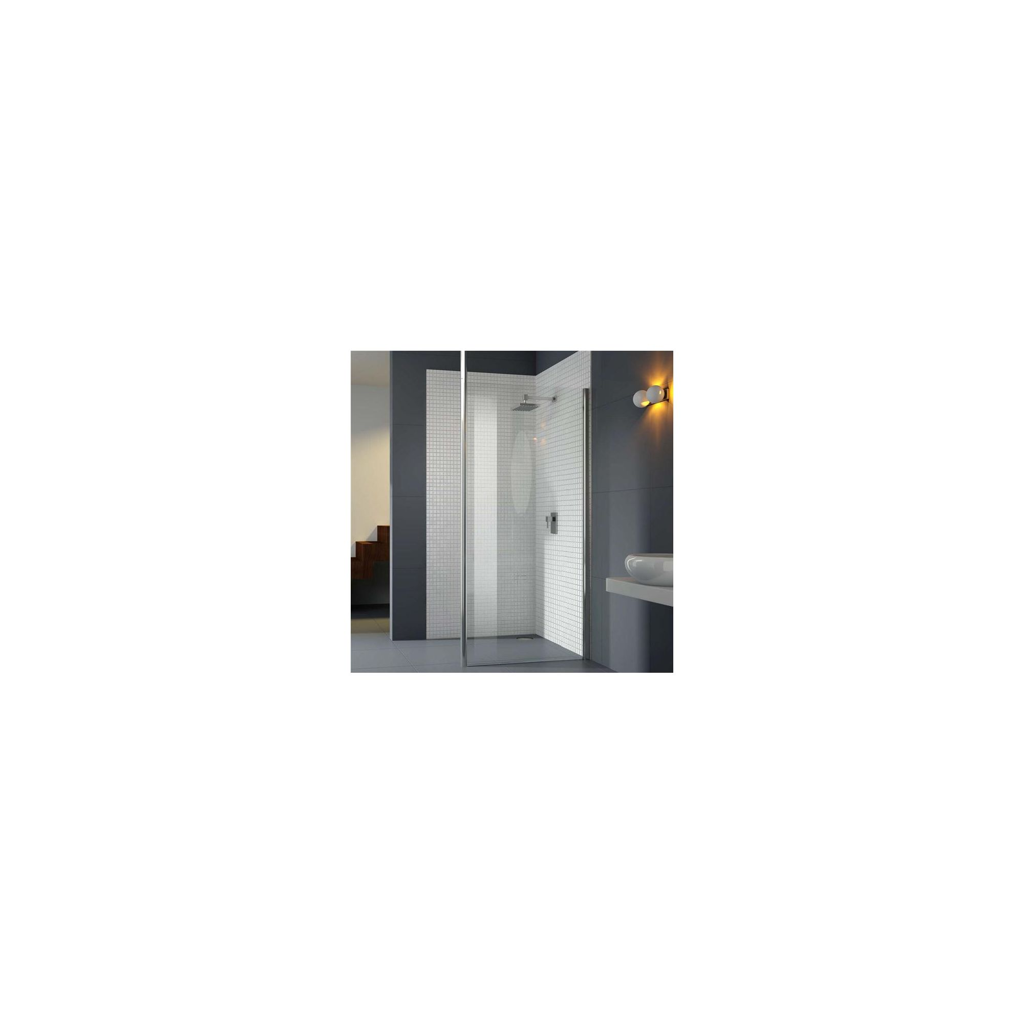 Merlyn Vivid Six Wet Room Shower Glass Panel 1200mm Wide with Vertical Support Bar at Tesco Direct