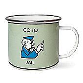 Gift Republic Monopoly Enamel Mug Go To Jail