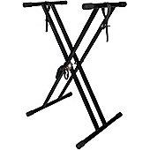 Double Keyboard Stand & Securing Straps