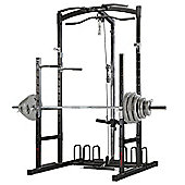 Marcy Eclipse RS5000 Power Rack Gym with 145kg Olympic Weight Set