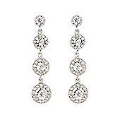 Jewelco London Rhodium-Coated Sterling Silver Drop Earrings