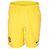 2013-14 Man Utd Home Nike Goalkeeper Shorts (Yellow) - Yellow