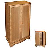 Techstyle CD / DVD / Video Media Storage Cupboard - Beech