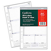 Collins A5 Desk Day to a Page 2014 Organiser Refills
