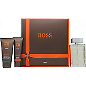 Hugo Boss Boss Orange Man Gift Set 100ml EDT + 75ml Aftershave Balm + 50ml Shower Gel For Men