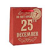 Red Do Not Open Christmas Gift Bag - Medium