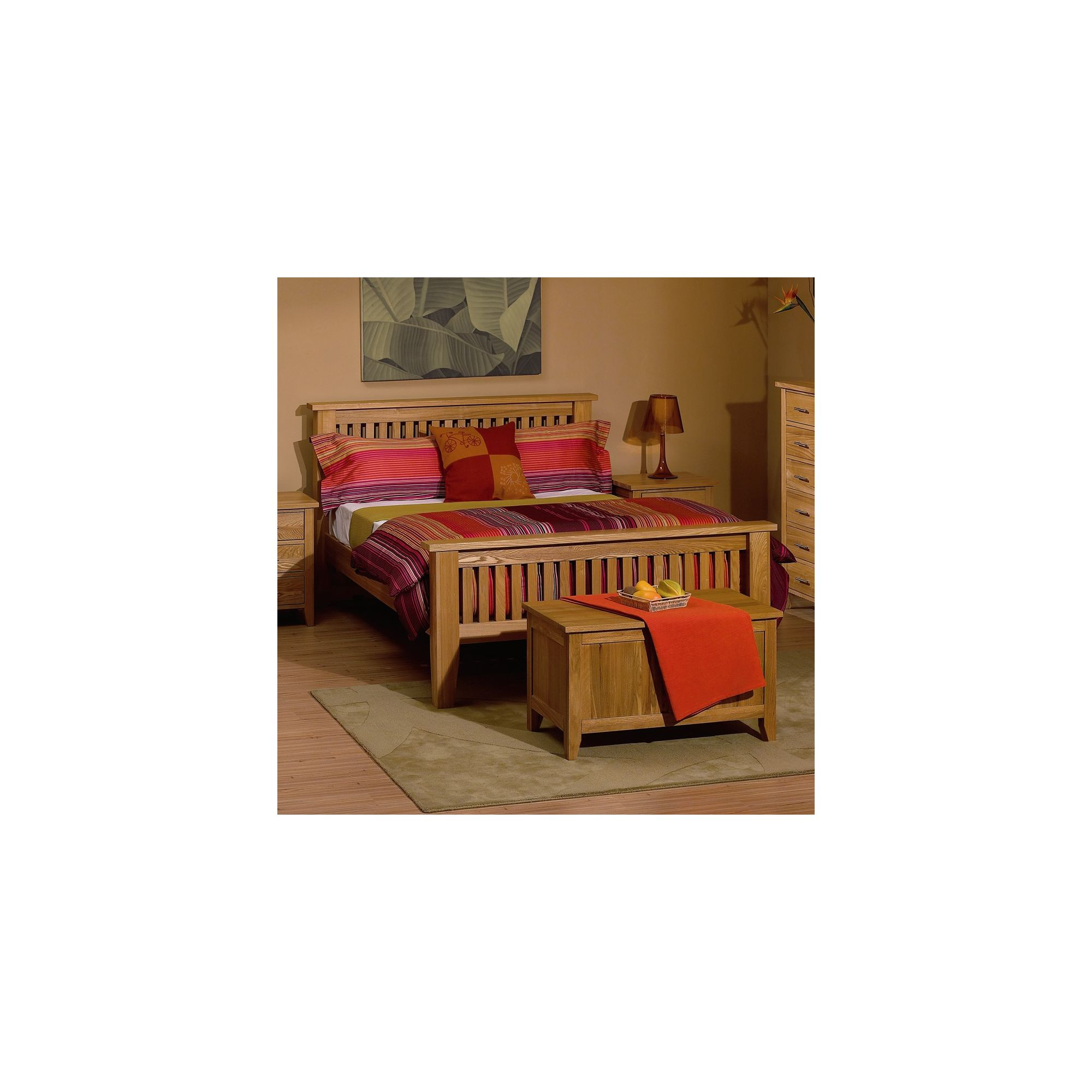 Kelburn Furniture Carlton High Foot End Bed Frame - Double at Tesco Direct