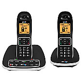 BT 7600 Twin Cordless Telephone , Black