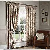 Curtina Sissinghurst Ruby 90x90 inches (228x228cm) Lined Curtains
