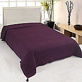 Homescapes Cotton Rajput Ribbed Purple Throw, 255 x 360 cm