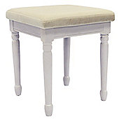 Strand - Solid Wood Dressing Table Stool - White / Cream