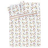 Hexagonal Spot Ditsy Print Duvet Set, Double