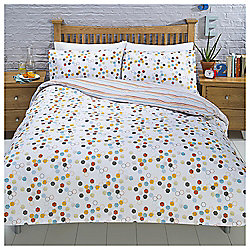 Hexagonal Spot Ditsy Print Double Duvet Set