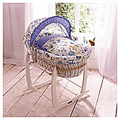 Clair De Lune Toy Shop White Wicker Moses Basket