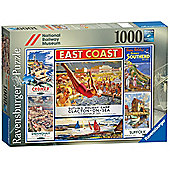 National Railway Museum East Coast 1000 Piece Jigsaw Puzzle - Ravensburger