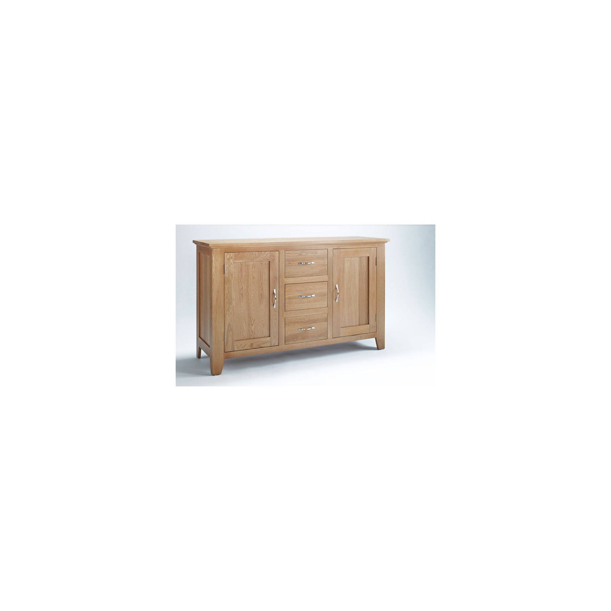 Ametis Sherwood Oak Three Drawer Sideboard at Tesco Direct