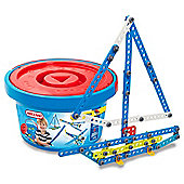 Meccano Bucket 100 Parts Construction Blue