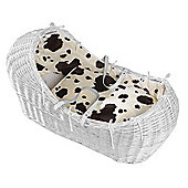 Isabella Alicia Natural Izzy-Pod Moses Basket (Wild Cow)
