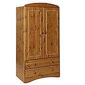 Altruna Scandinavian 2 Door 2 Drawer Wardrobe - Pine