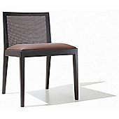 Andreu World Carlotta Side Chair with Wicker Back - Fabric Field-Light Brown