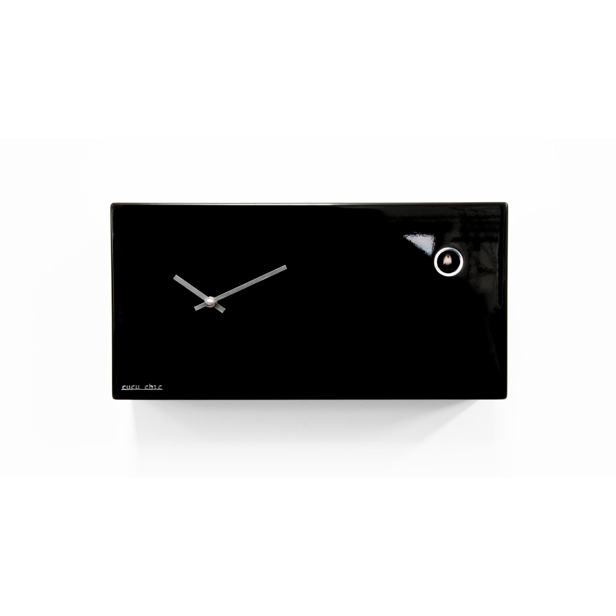Progetti Cucu Chic Cuckoo Clock - Gloss Black at Tesco Direct