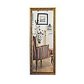 Large Shabby Chic Ornate Full Length Gold Wall Mirror 5Ft4 X 2Ft5 (163Cm X 73Cm)