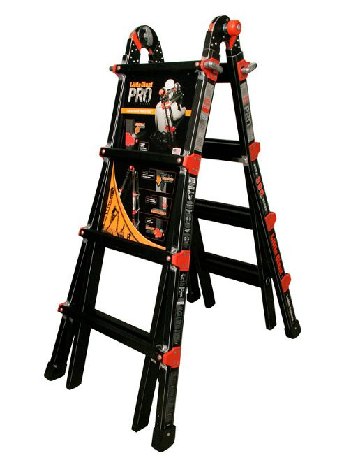 Heavy Duty 4 Rung Little Giant Ladders Pro Version