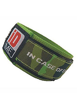 iDME Kids Safety iD Wristband Green Camo