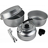 Yellowstone 5-Piece Aluminium Cook Set with Kettle Silver