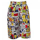 Lego Comic Strip Boy's Swim Shorts - Lime Green - Green